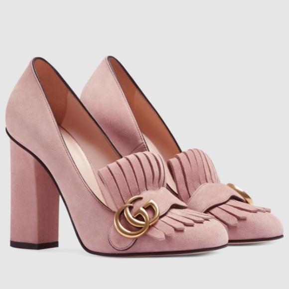 Gucci Shoes   Mormont Blush Pink Suede